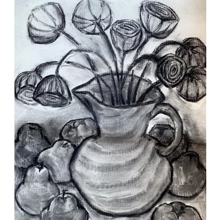 Vintage Charcoal Still Life Drawing Preview