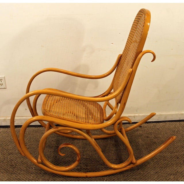 Thonet Salvatore Leone Bentwood Caned-Seat Rocking Chair #10 For Sale In Philadelphia - Image 6 of 11