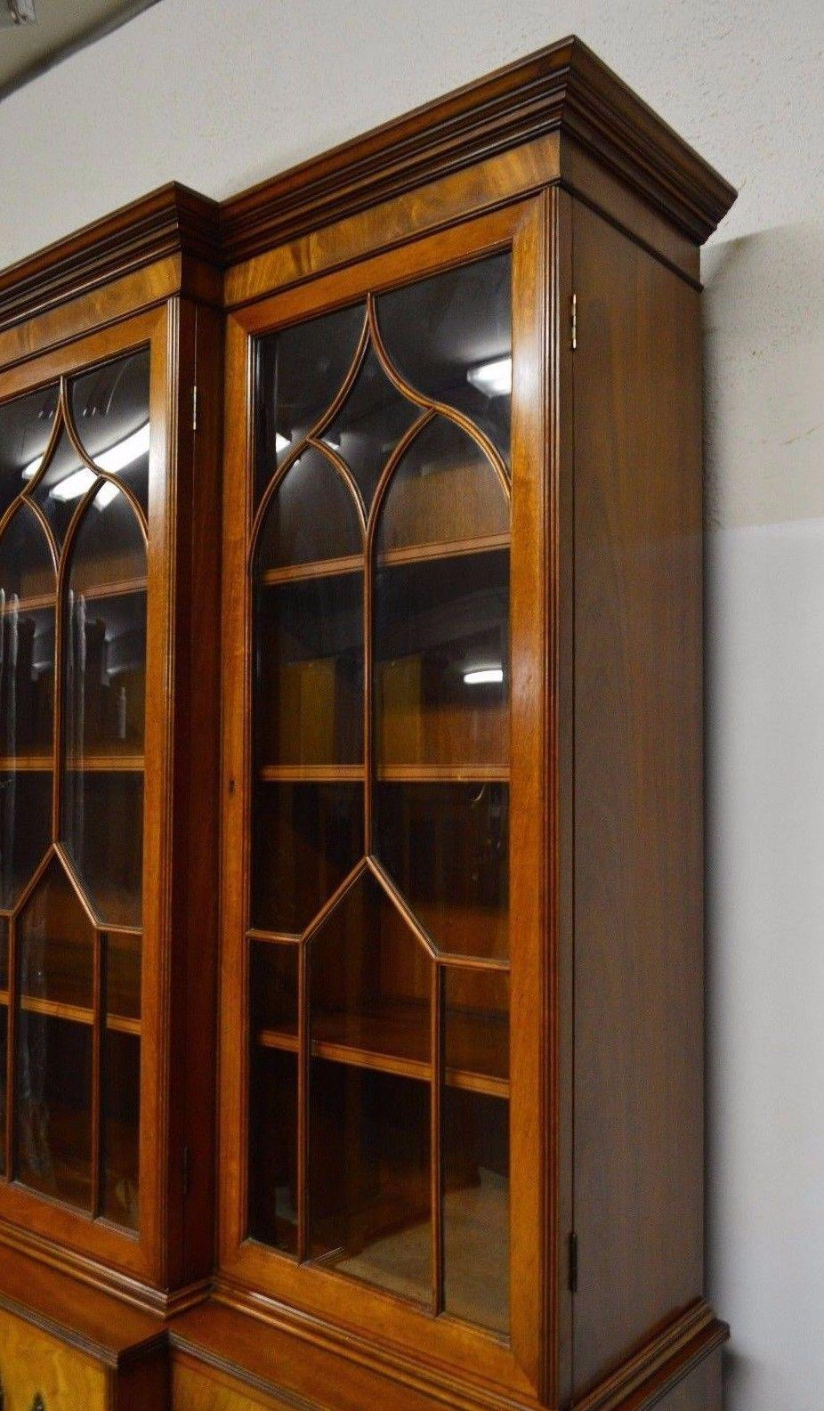 Attirant Kaplan Furniture Beacon Hill Collection Mahogany Breakfront Bookcase    Image 3 Of 11