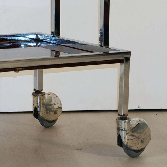 Italian Chrome and Faux Tortoise Ice Cream Cart For Sale - Image 12 of 13