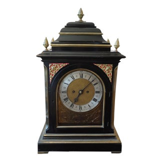 19th Century j.n. Moore & Sons Ebonized Mantle Clock For Sale