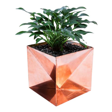 Trey Jones Studio Copper Origami Planter For Sale