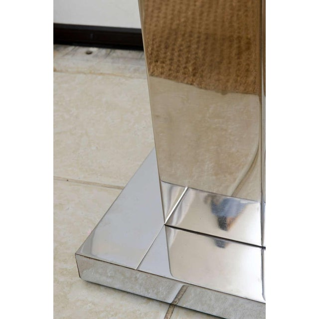 """Brass Paul Evans Dual Metal """"Cityscape"""" Floor Lamp For Sale - Image 7 of 10"""
