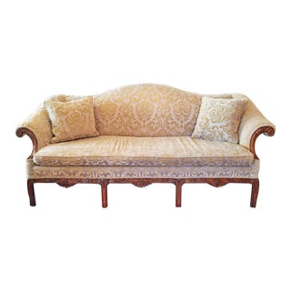 19c Chippendale Style Camel Back Sofa For Sale