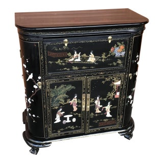 Lacquer and Inlay Hardstone Chinese Dry Bar