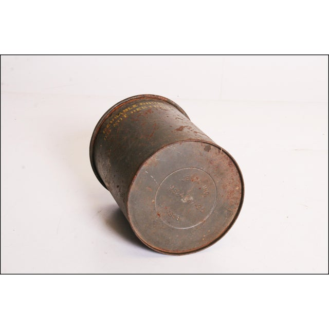 Vintage Industrial Green Metal Military Can - Image 11 of 11