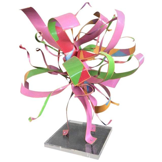 Dorothy Gillespie Starburst Metal Modern Art Sculpture For Sale