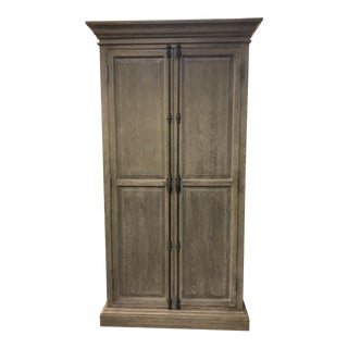Restoration Hardware French Paneled Double-Door Cabinet For Sale