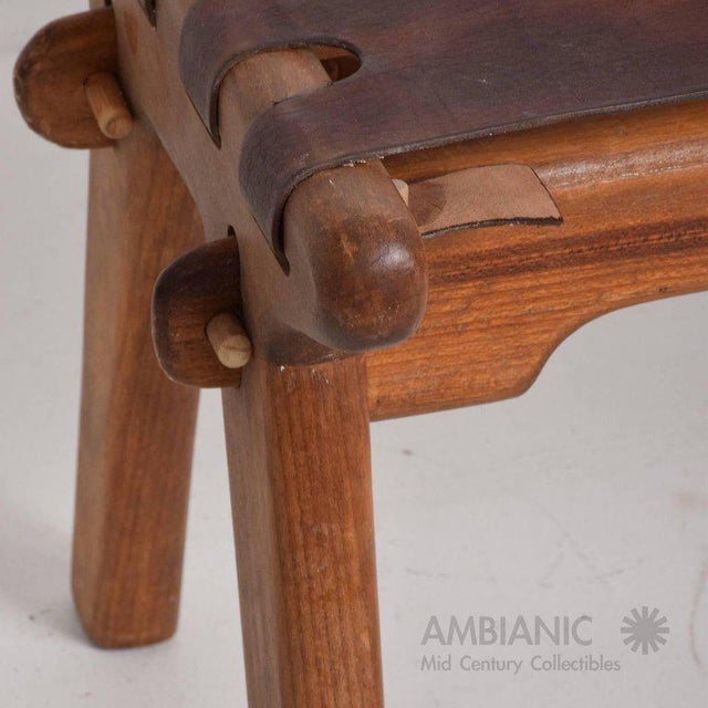 1960s Mid-Century Modern Angel Pazmino Telephone Table Stool For Sale - Image 5 of 7