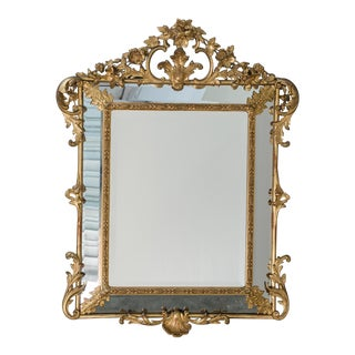 19th Century Antique French Régence Style Pareclose Mirror For Sale