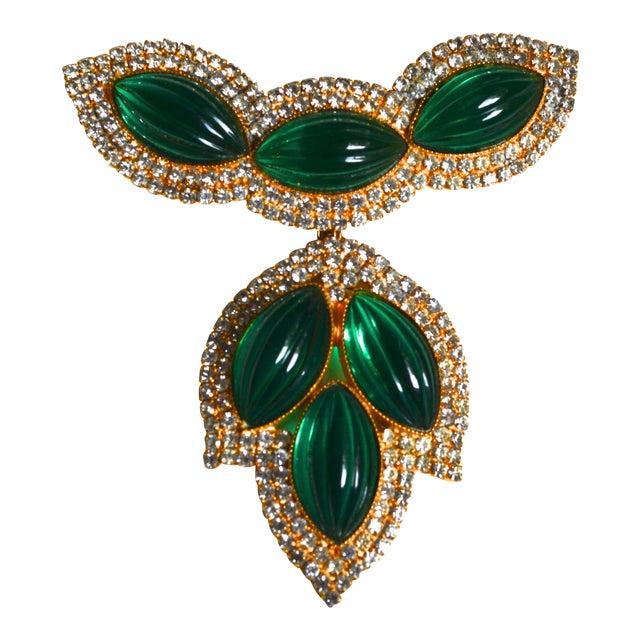 William De Lillo Green Lotus Brooch For Sale