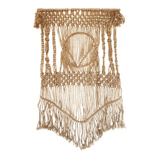 1970s Vintage Boho Macrame Wall Hanging For Sale