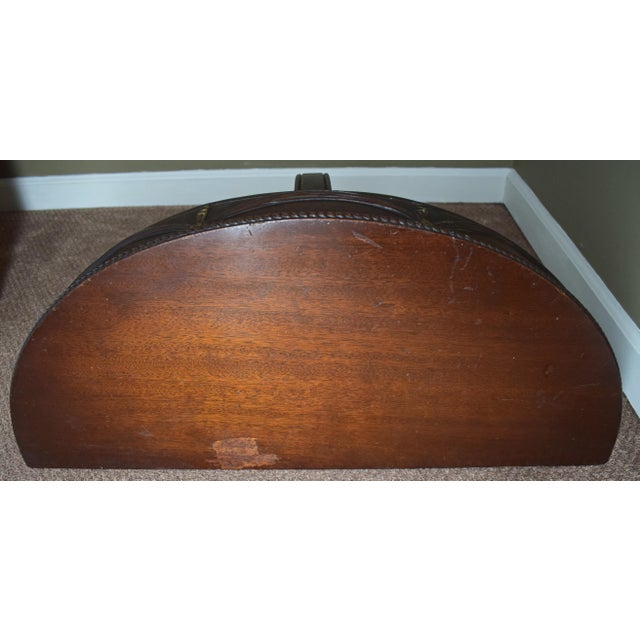 Antique Wall-Mounted Demi-Lune Table, Carved Mahogany With Gilt Accents - Image 6 of 9
