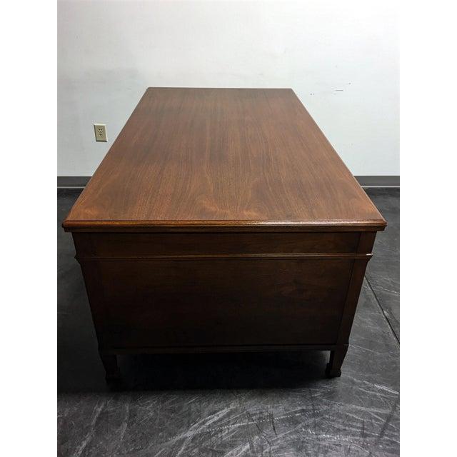 Vintage Solid Walnut Executive Desk by Doten-Dunton For Sale - Image 7 of 11