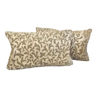"Etched ""Little Juliet"" Hair on Hide Pillows - a Pair For Sale"