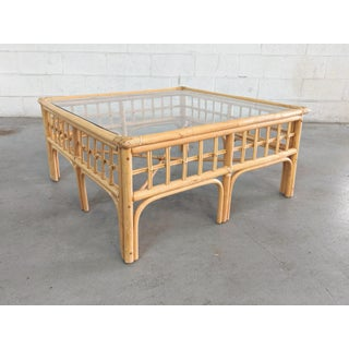 Vintage Boho Chic Rattan Coffee Table Preview