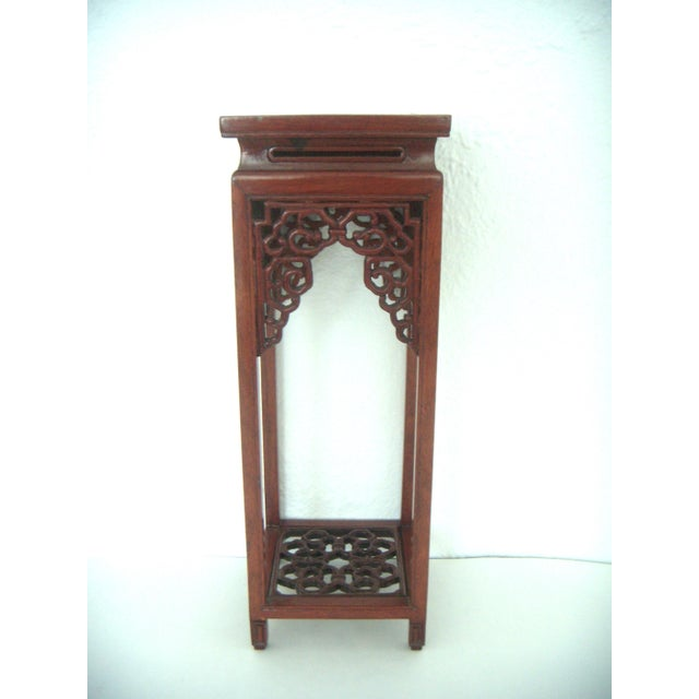 Asian Vintage 'Ming' Style Chinese Solid Rosewood Curio Display Pedestal/Stand For Sale - Image 3 of 7