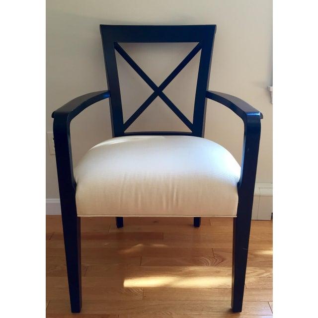 Ralph Lauren Black & White Accent Chair - Image 2 of 8