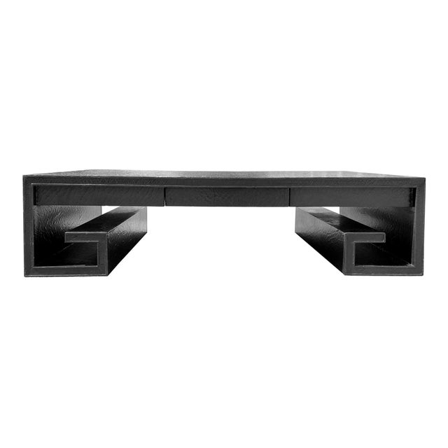 Baker Furniture Company Vintage Greek Key Coffee Table by Baker For Sale - Image 4 of 4