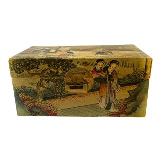 Chinese Qing Dynasty Pigskin Box For Sale