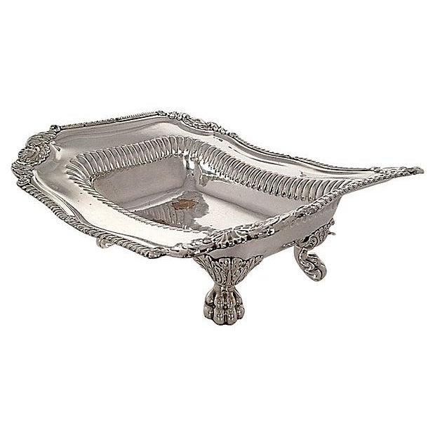 Silver-Plated Lion Footed Catchall - Image 6 of 7