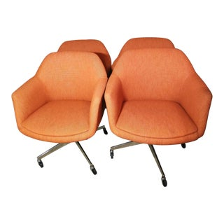 Steelcase Mid-Century Swivel Barrel Chairs - Set of 4