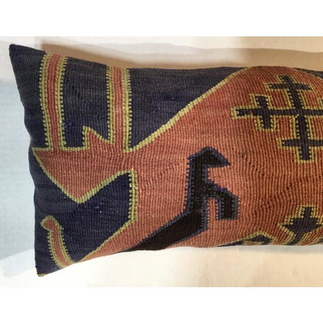 1960s Mediterranean Kazak Cotton Pillows - a Pair For Sale - Image 9 of 13