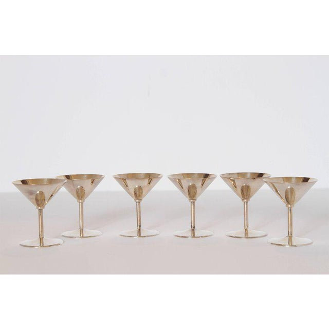 Machine Age Art Deco Silver Plate Cocktail Set by WMF Germany For Sale In Dallas - Image 6 of 11