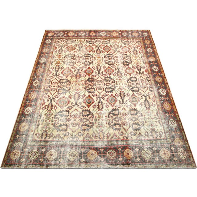 """1930s Persian Mahal Carpet - 9'6"""" X 12'6"""" For Sale In Los Angeles - Image 6 of 7"""
