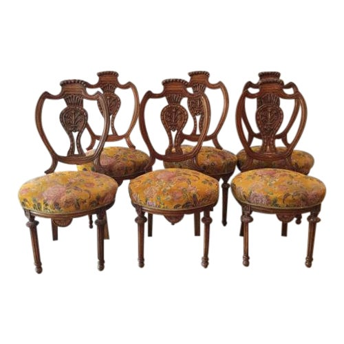 Louis XVI French Dining Chairs - Set of 6 For Sale