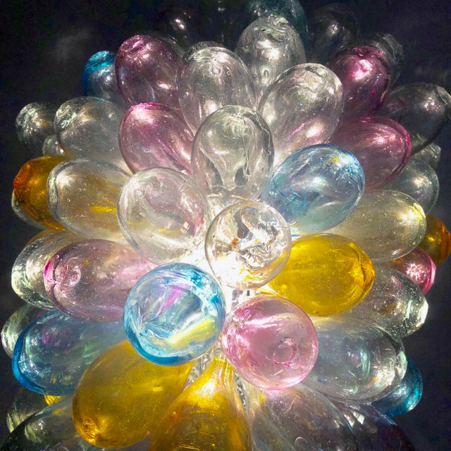 Soft Candy Colored Balloon Shape Light Fixture of Recycled Handblown Glass For Sale - Image 9 of 12
