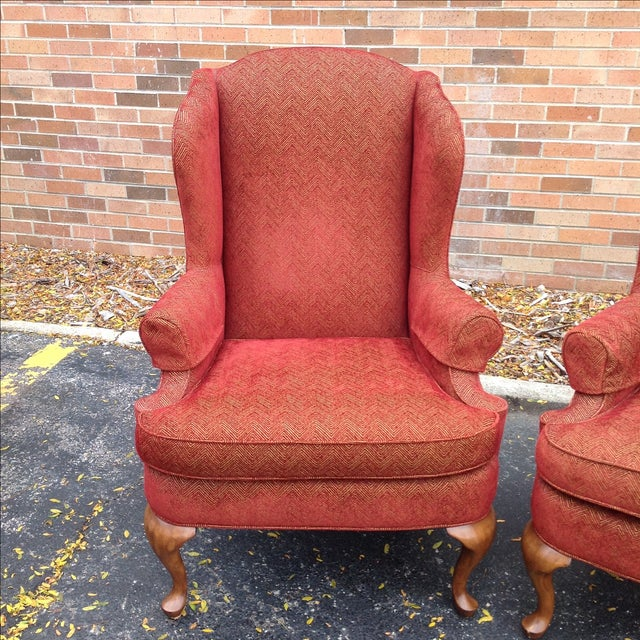 Walter E. Smithe Wingback Chairs - Pair For Sale - Image 5 of 10