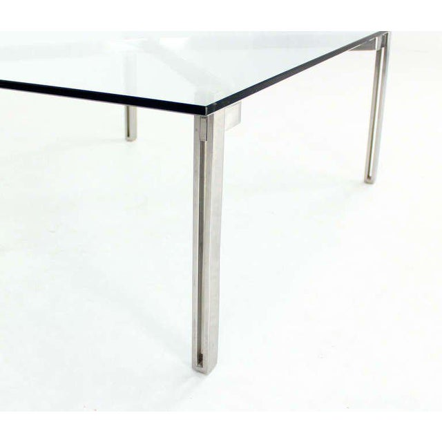 Mid-Century Modern Mid-Century Modern Solid Chrome and Glass-Top Coffee Table by Kjaerholm For Sale - Image 3 of 6