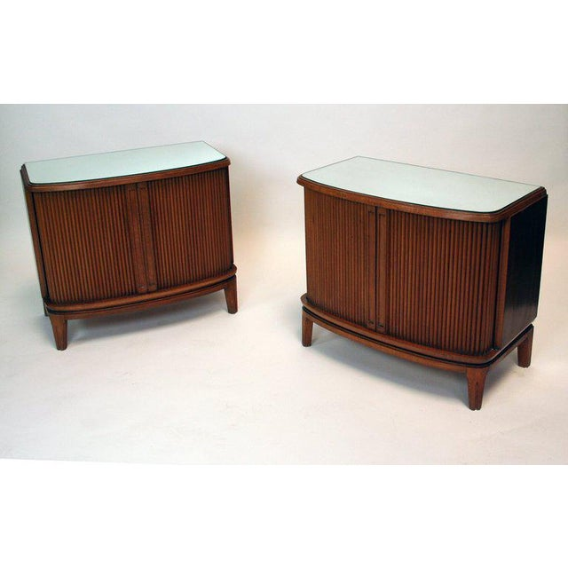 Mid-Century Modern 1950's French Nightstands - A Pair For Sale - Image 3 of 4