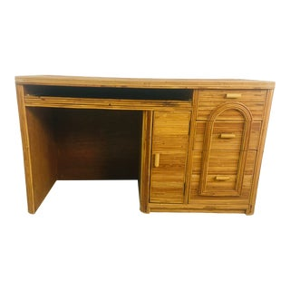 Pencil Reed Rattan Desk For Sale