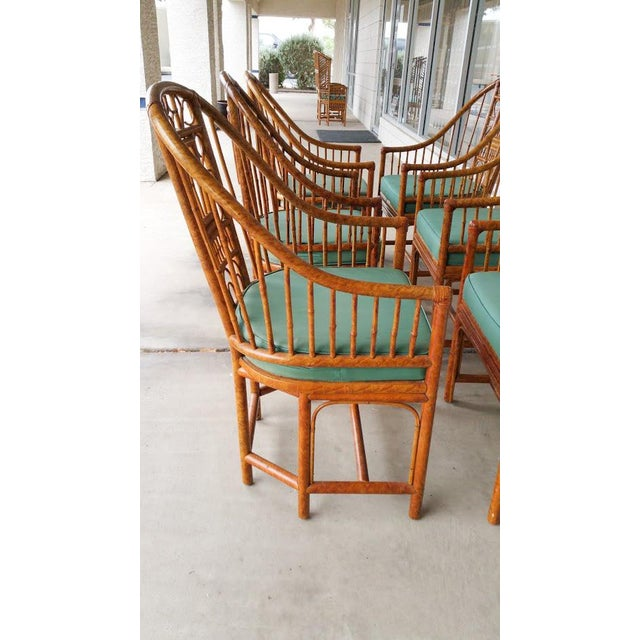 Hollywood Regency Brighton Bamboo Chair- Set of 6 - Image 4 of 9