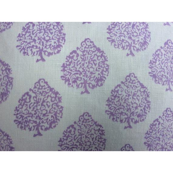 "John Robshaw Fabric ""Mali"" in Lavender Pillows - a Pair - Image 3 of 3"