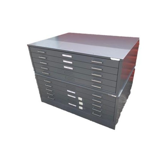Mid 20th Century Mayline 5-Drawer Map Blueprint Filing Cabinets - A Pair For Sale - Image 5 of 5