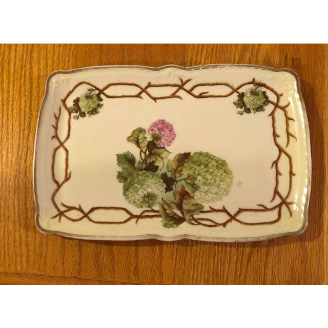 Ceramic Mid 20th Century Vintage German Hand Painted China Platter For Sale - Image 7 of 7