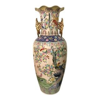 Asian Chinoiserie Floor Vase For Sale