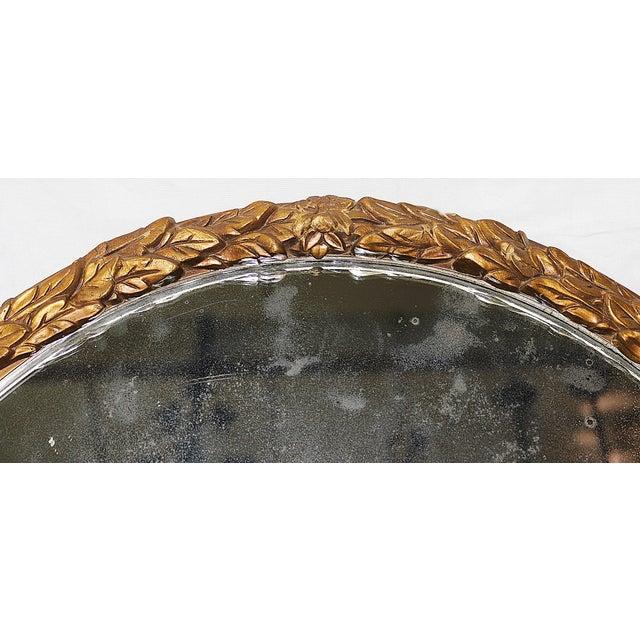 Oval Gilt Wood Mirror - Image 4 of 8