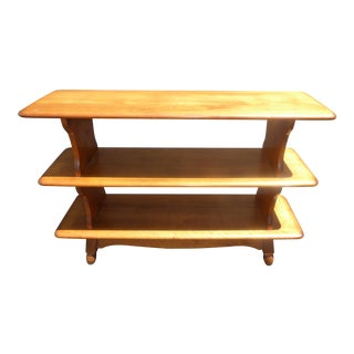 Vintage Mid-Century Modern 3 Tier Maple Bookcase