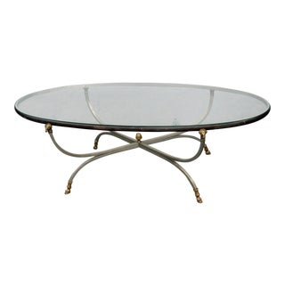 20th Century Regency Glass Top Coffee Table For Sale