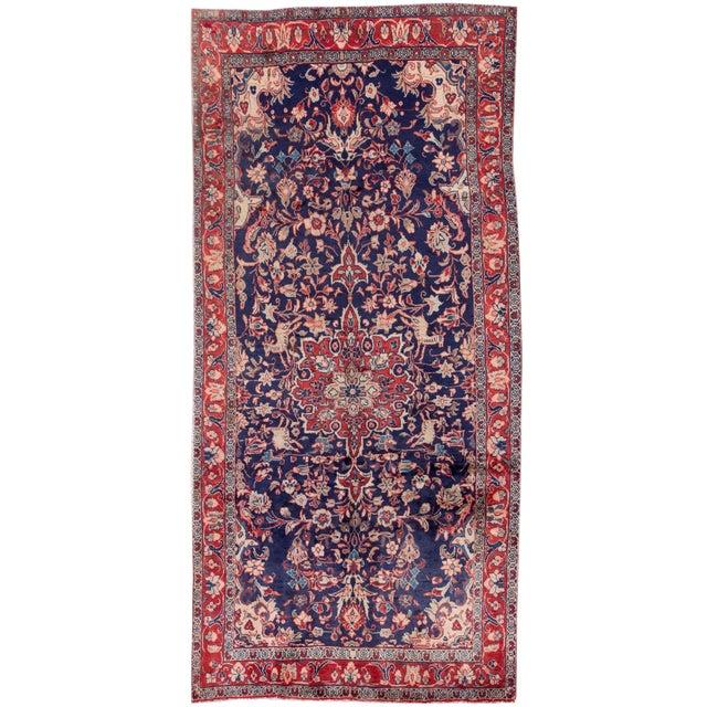 "Vintage Persian Hamadan Rug, 4'4"" X 9'3"" For Sale"