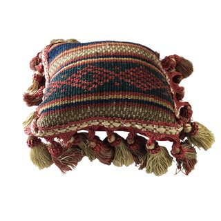 "19 Th Antique Tribal Jajim Neck Pillow 6.5"" by 7"""