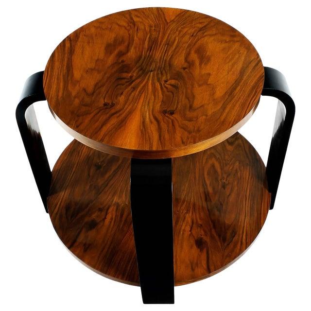 1930´s Art Deco Sidetable, ebonized beech and walnut - France For Sale