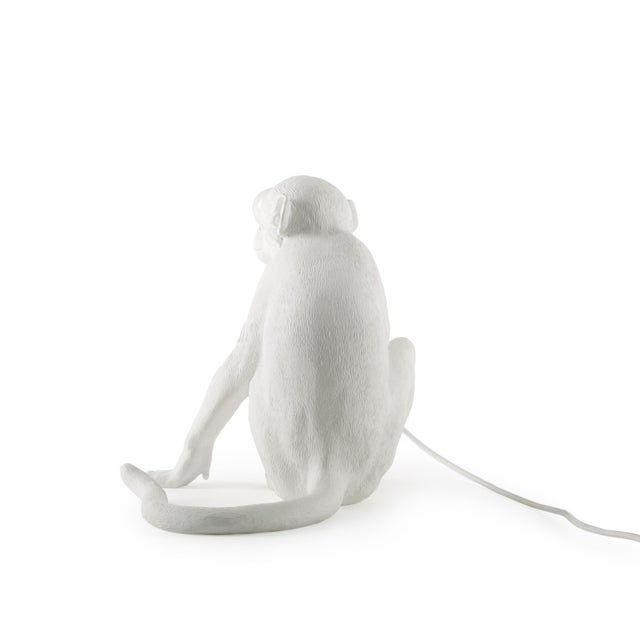 Contemporary Seletti, Sitting Monkey Lamp, White, Marcantonio, 2016 For Sale - Image 3 of 11