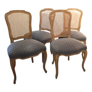 Queen Anne Caned Back Chairs - Set of 4 For Sale