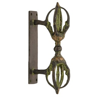 Traditional Solid Brass Door Handle For Sale