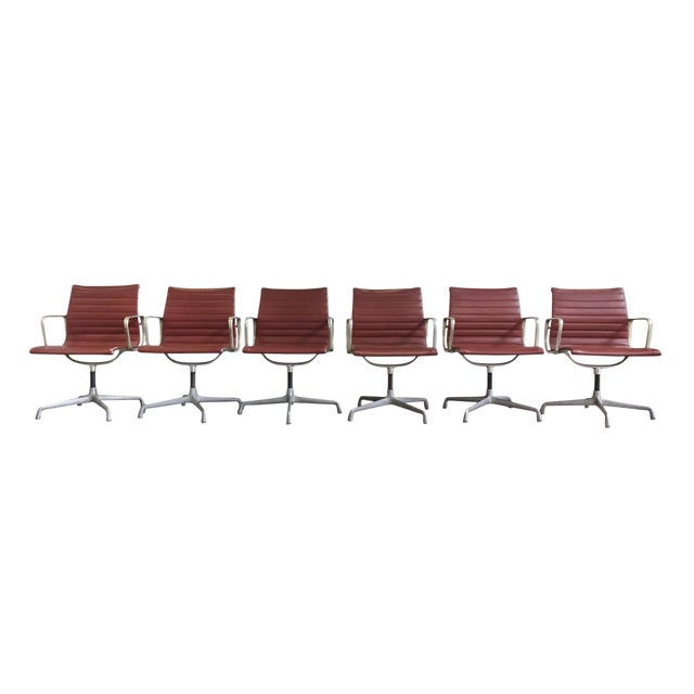 Eames Swivel Chairs for Herman Miller - a Set of 6 For Sale